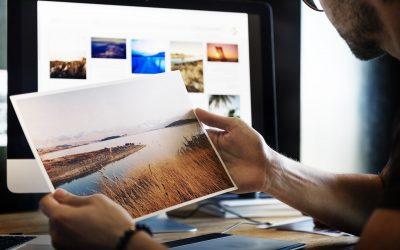 Grafikprojekt bei einer Online-Druckerei