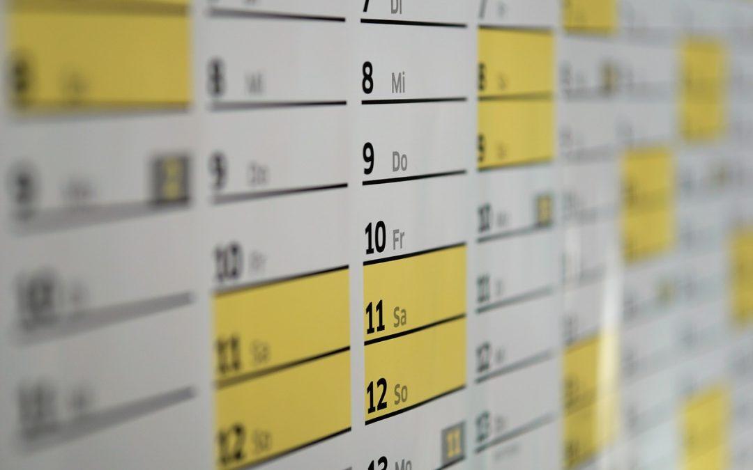 Wie sollte ein Wandkalender erstellt werden?